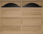 Recessed Panel Wood Garage Door
